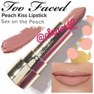 2/$15 Too Faced Peach Kiss Moisture Matte Lipstick